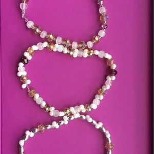 Jewelry - Swarovski Crystal, Quartz, Pearl Bracelet Set